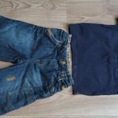 Летний комплект Футболка+джинсовые шорты 12-18мес