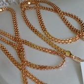 красивая и нежная цепочка, плетение бисмарк классическая 50*0.4 cм, позолота 585 пробы