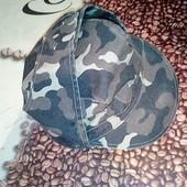 Мужская камуфляжная кепка. натуральная ткань. объем по окружности 59 см