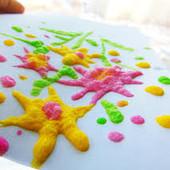 Магические растущие 3-D краски! Волшебство растущего рисунка  своими руками! Домашняя сказка!