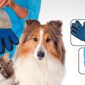 Перчатка для вычесывания шерсти животным True Touch