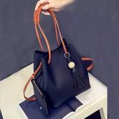 Набор, сумка + клатч, коричневая в лоте.