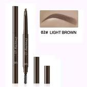 Водостойкий карандаш для бровей с щеточкой, оттенок light brown