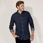 Джинсовая мужская рубашка Livergy Германия размер XL (43/44)