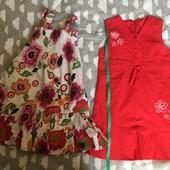 Одним лотом Хлопковые сарафаны, платья рост 104-110