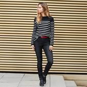 Стильные джинсы -треггинсы с высокой посадкой tcm tchibo германия, размер 38 евро=44