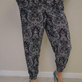 Женские летние брючки c карманами, Супер батал, 54-60 размер. Тоненькие и легкие.