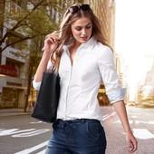 Шикарная белая рубашка из органического хлопка от ТСМ(германия) , размер 44 евро=50-52