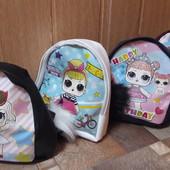 Рюкзак LOL с помпоном, для девочки, 3цвета!