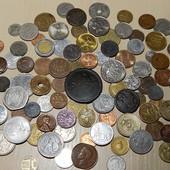 Гора монет разных стран мира! 100 шт. Все разные! Много старины!