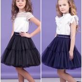 Школьная юбка для девочки Zironka 116, 122, 128, 134, 140, 146, 152, 158, 164 Зиронька