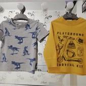 Дві футболки (H&M, OldNavy) 1,5-4рочки.