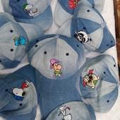 Класнючі кепки для хлопчиків і дівчаток Джинс 100 процентів натуральні Прикольний малюнок УП при отр