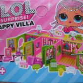 Супер новиночка!!!  Домик Лол Surprise , 2 этажа  внутри куколка сюрприз+аксессуары+ наклейки декоры