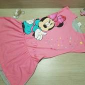 Сток!!! Акция!!! Супермягкое, моднющее платье c Minnie от Disney, 6 лет, 116см!