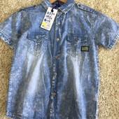 Стильная джинсовая рубашка для мальчиков, S&D, 4-12 лет, Венгрия, две модели, последние размеры
