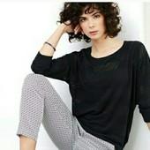 Ажурная блуза с рукавами 3/4 от Tchibo (Германия), размер 40/42