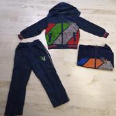 Костюм для мальчика ветровка на трикотажной основе+штаны Crossfire134,140,158,маломерят на 2 размера