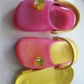 Кроксы- шлепанцы мягенькие со съемной стелечкой 14.5 см