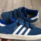 Кожаные кроссовки Adidas оригинал 31 размер стелька 20 см