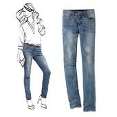 Эффектные джинсы, моделирующие фигуру, Tchibo(германия), размер 38 евро=44