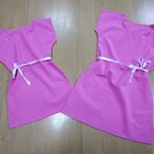 Платье легенькое  повсекдневное для девочки! Смотрите замеры! Размер и цвет на выбор!
