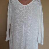 Вязаная туника/ блузон с ажурными вставками на плечах...на разные размеры, примерно 50-52-54-56-58..