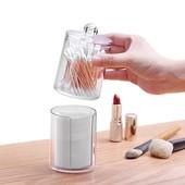 Акриловый органайзер для ватных дисков и палочек с декором