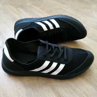 ffcd57e6 Кроссовки черные мужские в стиле Adidas Iniki - нубук/сетка..УП-5