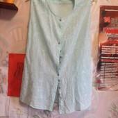 Блузка из батиста голубого цвета на 48-50 (укр.)