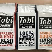 Кофе премиум класса торговой марки Tobi coffee молотый и в зёрнах