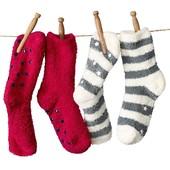 ☘Лот 2 шт☘ Мягусенькие антискользящие плюшевые носочки от Tchibo(Германия), размеры: 35-39