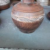 Горшочек для запикания из красной глины.