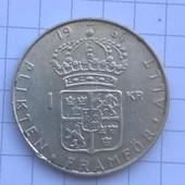 Монета Швеции 1 крона 1964 (серебро)