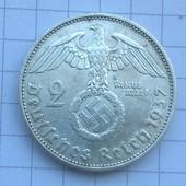 Монета Германии 2 марки 1937 (серебро)