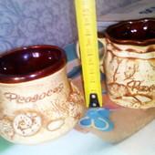 Чашки глиняные, ручная работа, керамика.