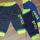 Модные, яркие бриджи для мальчиков - размеры на рост 98-128