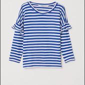Новый! Модный реглан H&M в морском стиле! 143/140