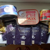 Набор из 10 продуктов : тунец, какао, , сардина и т.д. Лично привезла из Франции