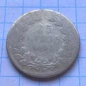 Монета Нидерландов  25 центов 1885 (серебро)