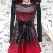 ***Супер цена!** Оригинальное кожаное платье с натуральным мехом, размер с, новое