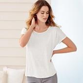 Стильная и мягкая футболка, 100% лен, Tchibo(Германия), размеры наши 50/52