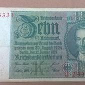 Бона Германии 10 марок 1929