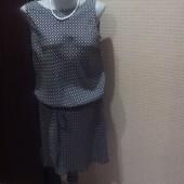 Нарядное летнее платье с заниженной талией, размер 46-48 укр!