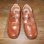 фирменные летние туфли-кроссовки кожа