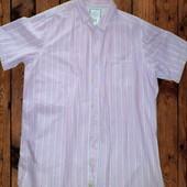Рубашка мужская короткий рукав лён размер XL на 54-56
