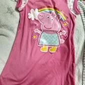 Пижама, платье свинка пеппа, peppa pig, 3-4 года