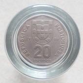 Монета 20 эскудо 1986 года, Португалия.