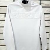 Очень нарядная и Красивая детская блузка с гипюром, кофточка с кружевом! Два вида!