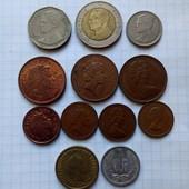 12 монет стран мира, разние